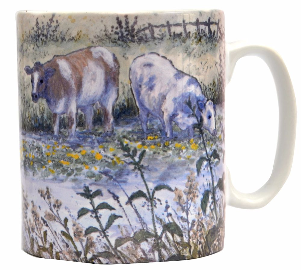 Mug or Coaster-Cows in the Canal
