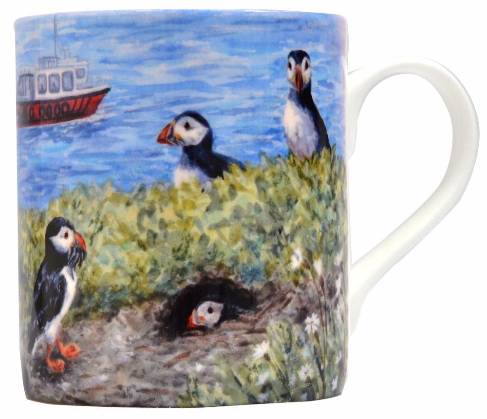 Mug-Puffins & Lighthouse