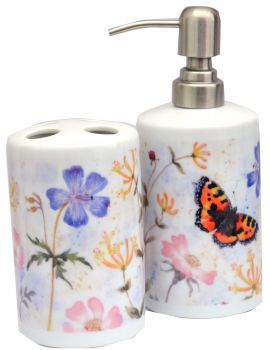 Bathroom Set - Tortoiseshell Butterfly