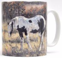 Mug or Coaster-Autumn Horses