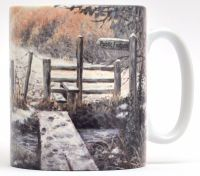 Mugs & Coasters-Over the Stream, Winter