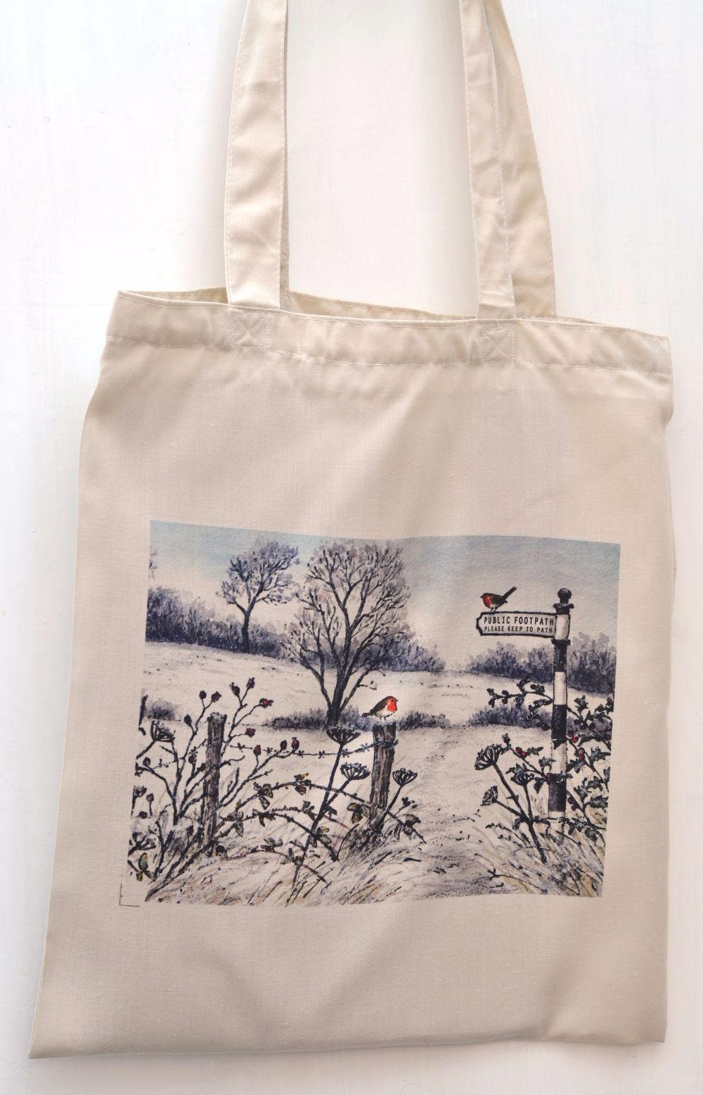 Bag - Winter footpath