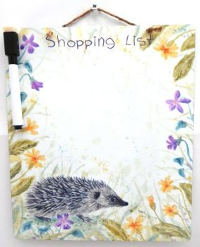 Dry-Wipe Board - Spring Hedgehog