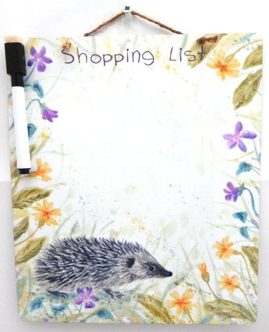 Dry-Wipe Board - Spring Hedgehog