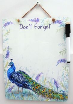 Dry-Wipe Board - Peacock