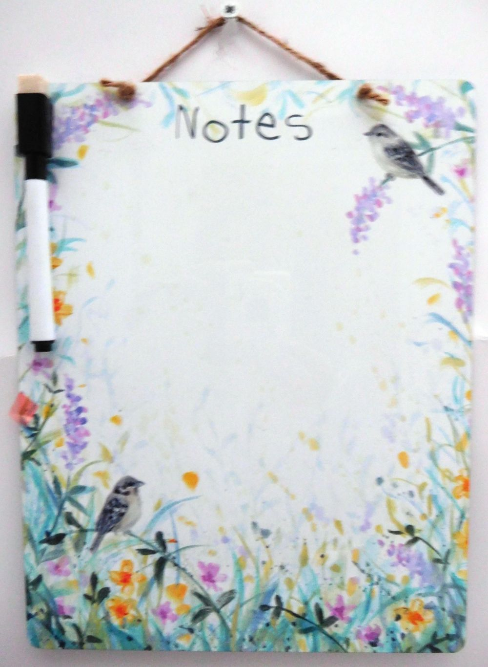 Dry-Wipe Board - Birds & Flowers