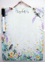 Dry-Wipe Board - Birds & Flowers