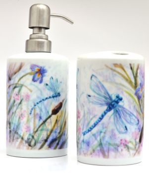 Bathroom Set -Dragonflies