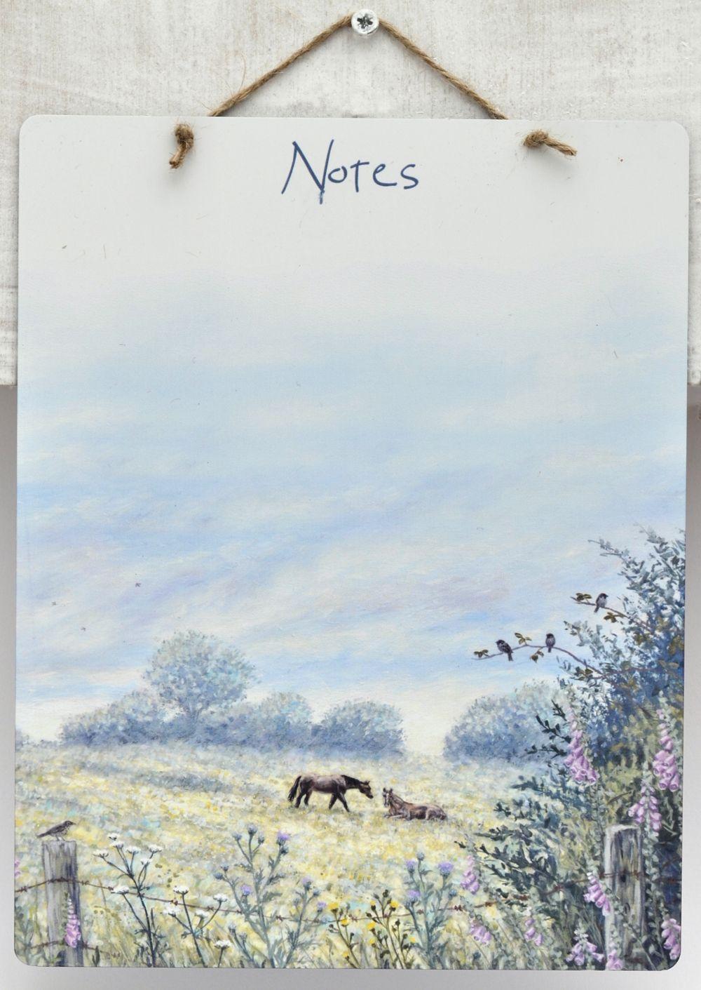 Dry-Wipe Board - Horse Meadow