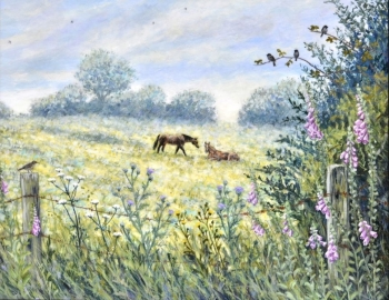Original Painting - Horse Meadow