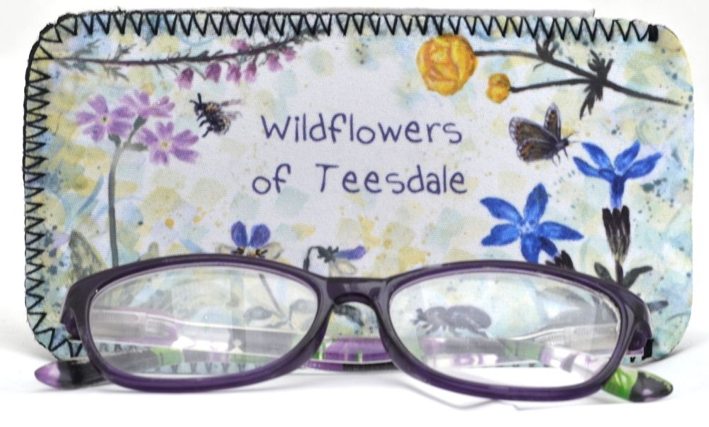 Glasses Case - Pennines flowers