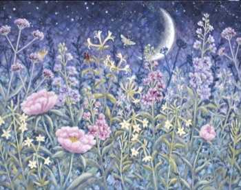 Original Painting - Midnight Garden - SOLD