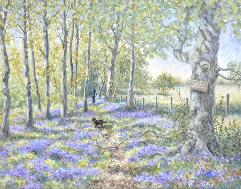 Wooden Picture Panels - Bluebell Wood