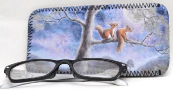 Glasses Case -  Moon Squirrels