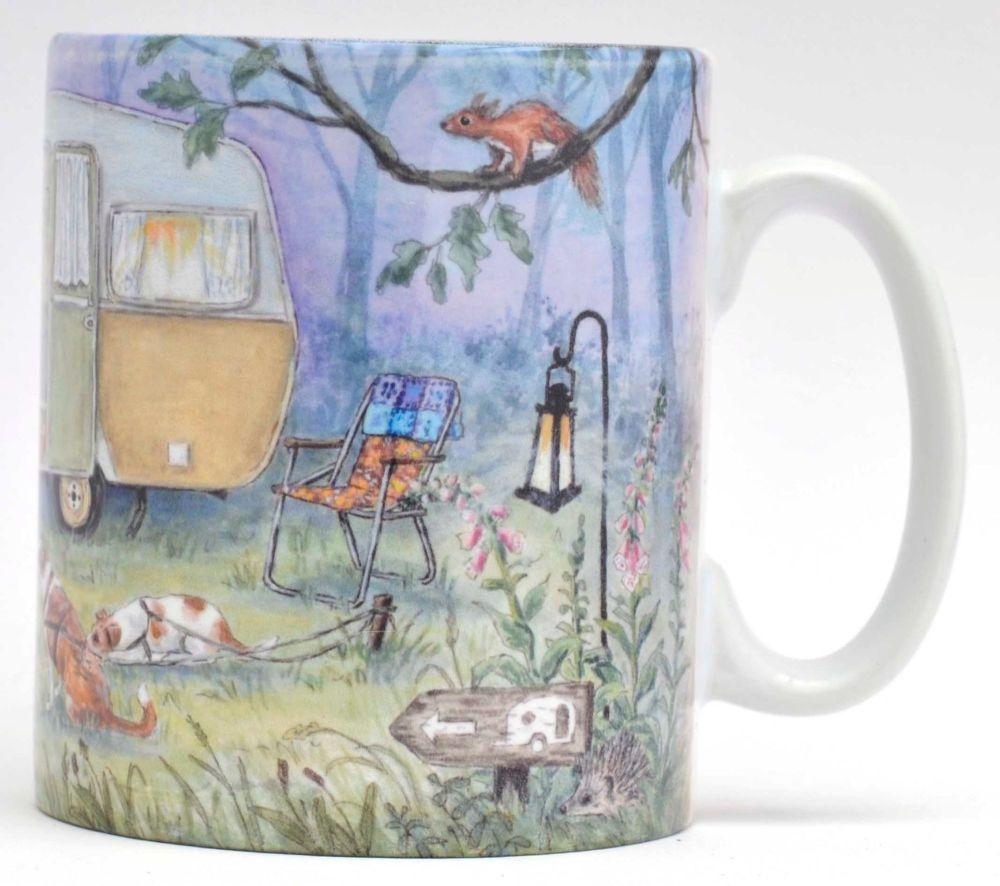 Mugs & Coasters - Caravan in the woods