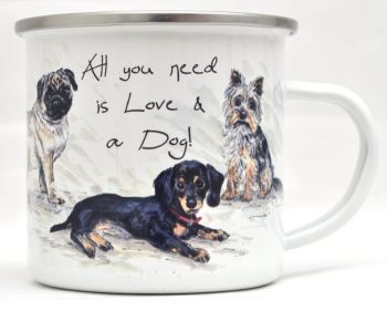 Enamel Mug - For the love of Dogs