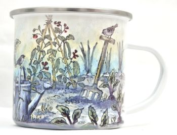 Enamel Mug - Vegetable Plot