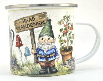 Enamel Mug - Garden Gnome