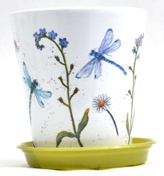 Plant Pot - Dragonflies
