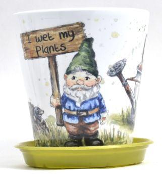 Plant Pot - Gnome Sign
