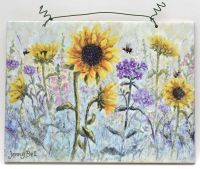 Printed Tile- Sunflower Garden