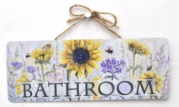 Metal Sign - Sunflower Garden