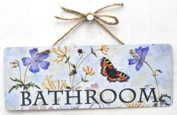 Metal Sign - Tortoiseshell Butterfly