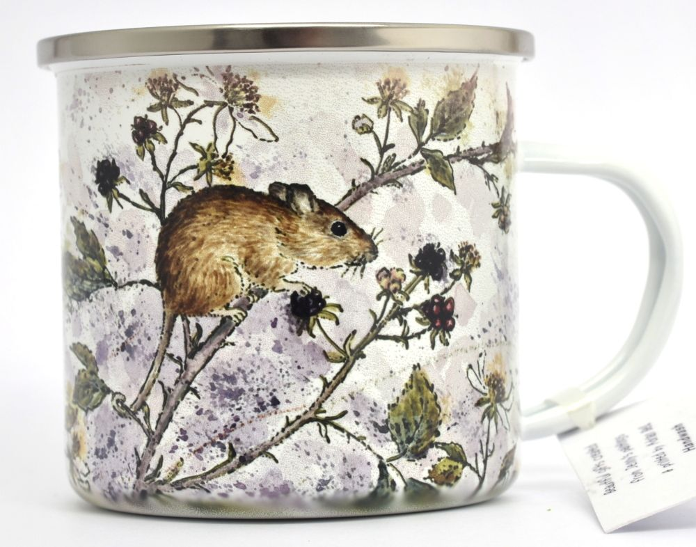 Enamel Mug - Mouse & Blackberry