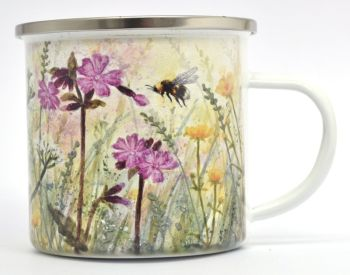 Enamel Mug - Red Campion