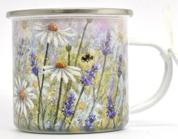 Enamel Mug - Lavender & Daisy