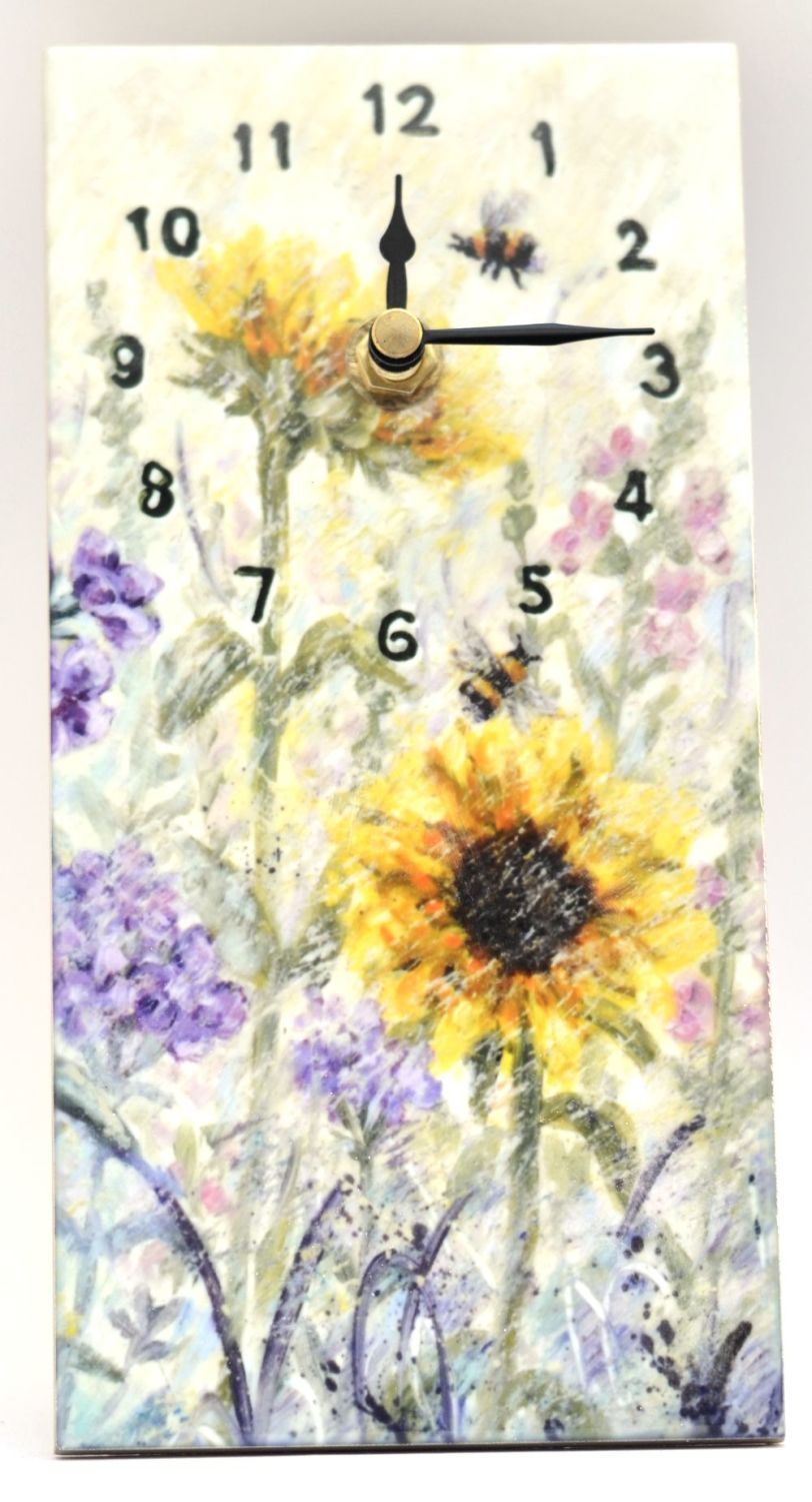Wall Clock - Sunflowers