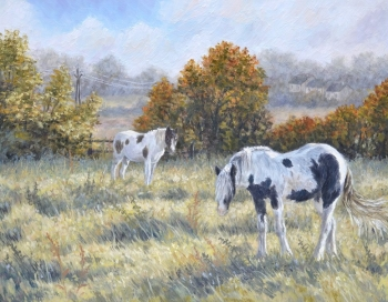 Original Painting - Autumn Horses - SOLD