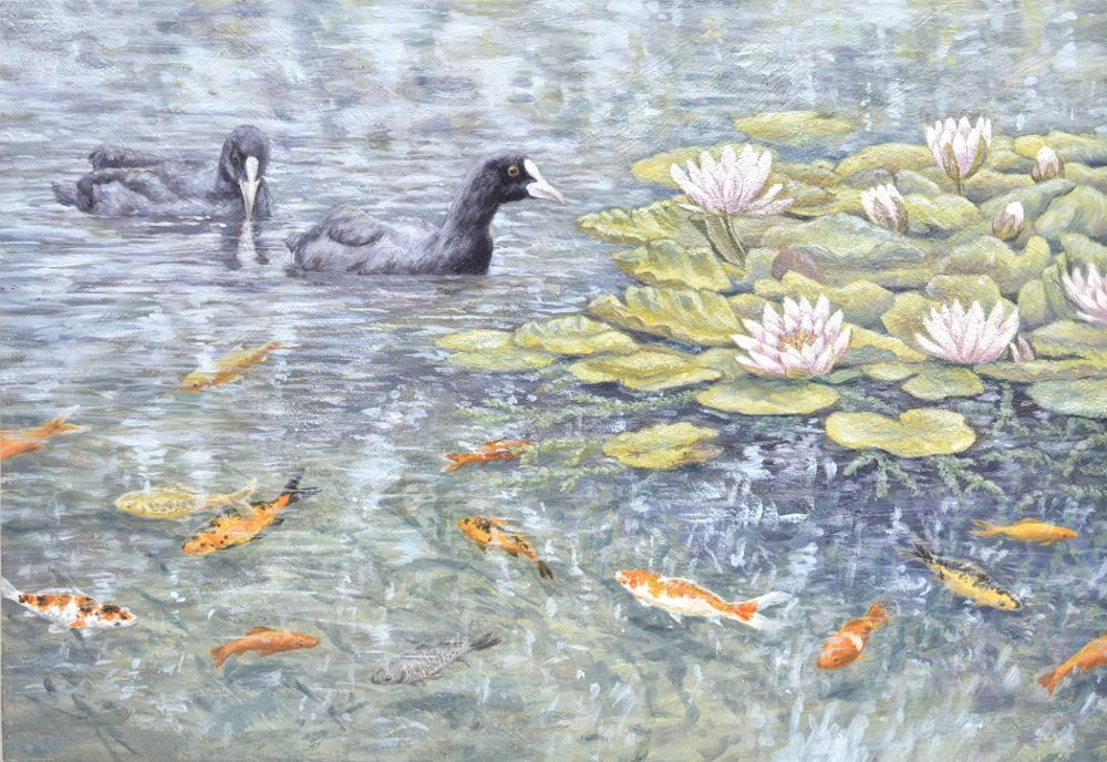 Original Paintings - Water Garden