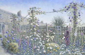 Original Paintings - Terraced Garden