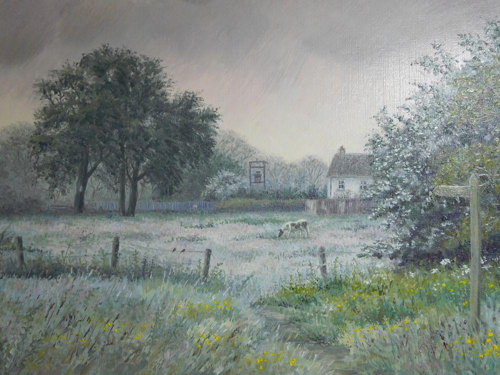 Original Painting - Misty Cottage