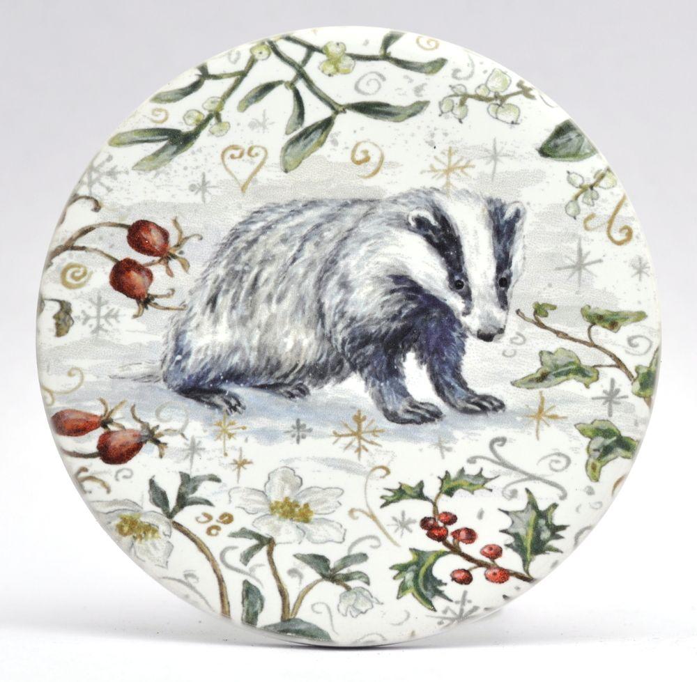 Mugs & Coasters- Winter Berries - Badger