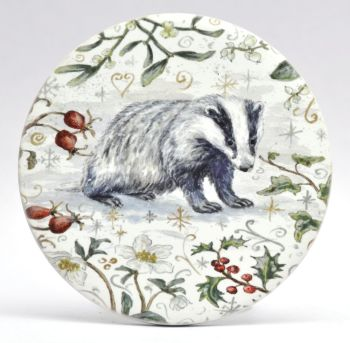 Mugs & Coasters- Winter Berries - Badger