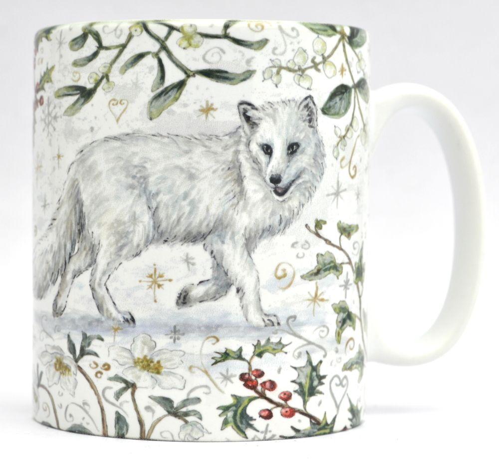 Mugs & Coasters- Winter Berries - Arctic Fox