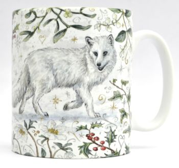 Mugs & Coasters- Winter Berries - Arctic Fox