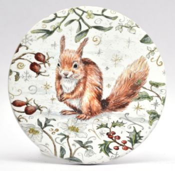 Mugs & Coasters- Winter Berries - Red Squirrel