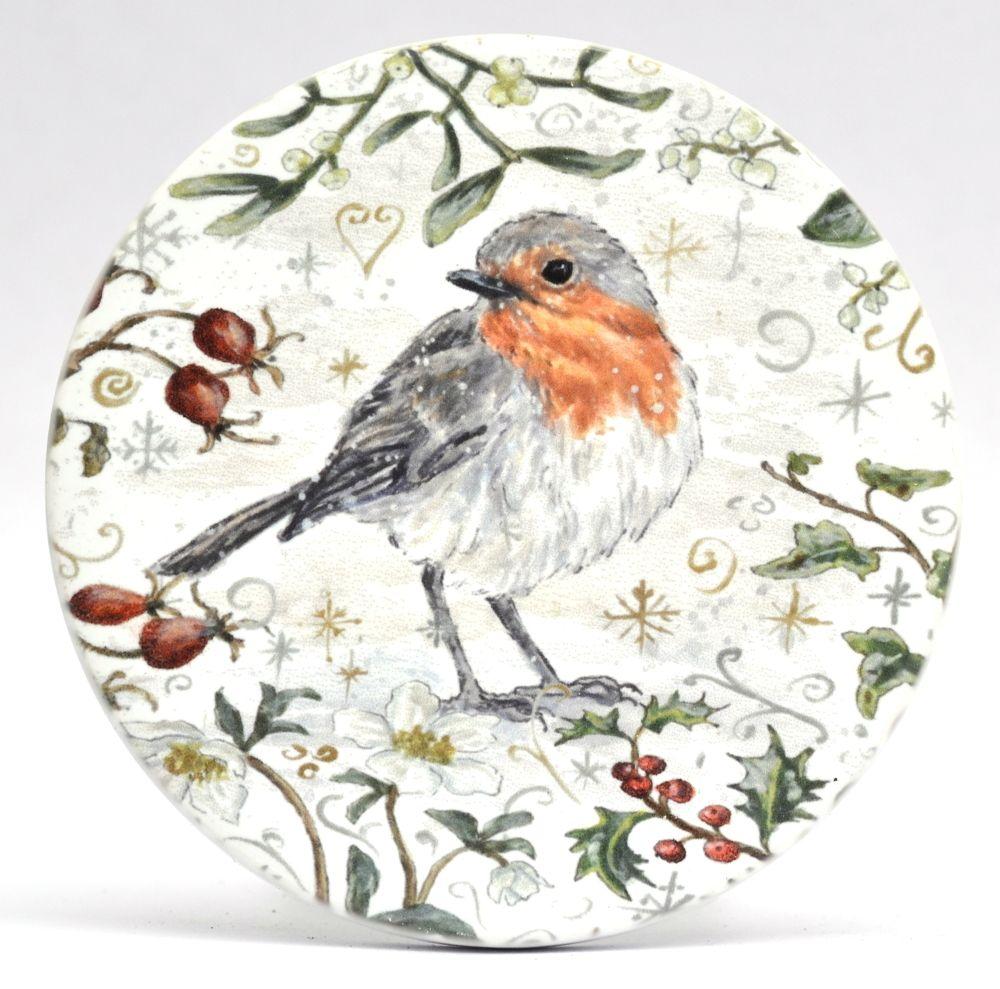 Mugs & Coasters- Winter Berries - Robin L