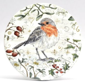 Mugs & Coasters- Winter Berries - Robin L