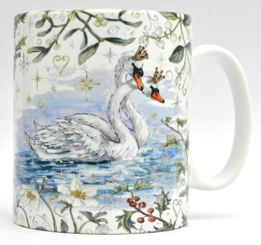 Mugs & Coasters- Winter Berries - Royal Swans