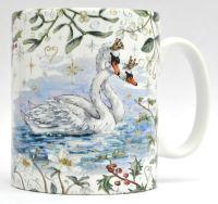 Mugs & Coasters- Winter Berries - Royal Swans