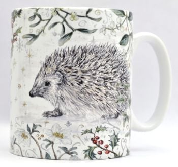 Mugs & Coasters- Winter Berries - Hedgehog