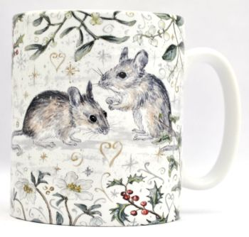 Mugs & Coasters- Winter Berries - Mice