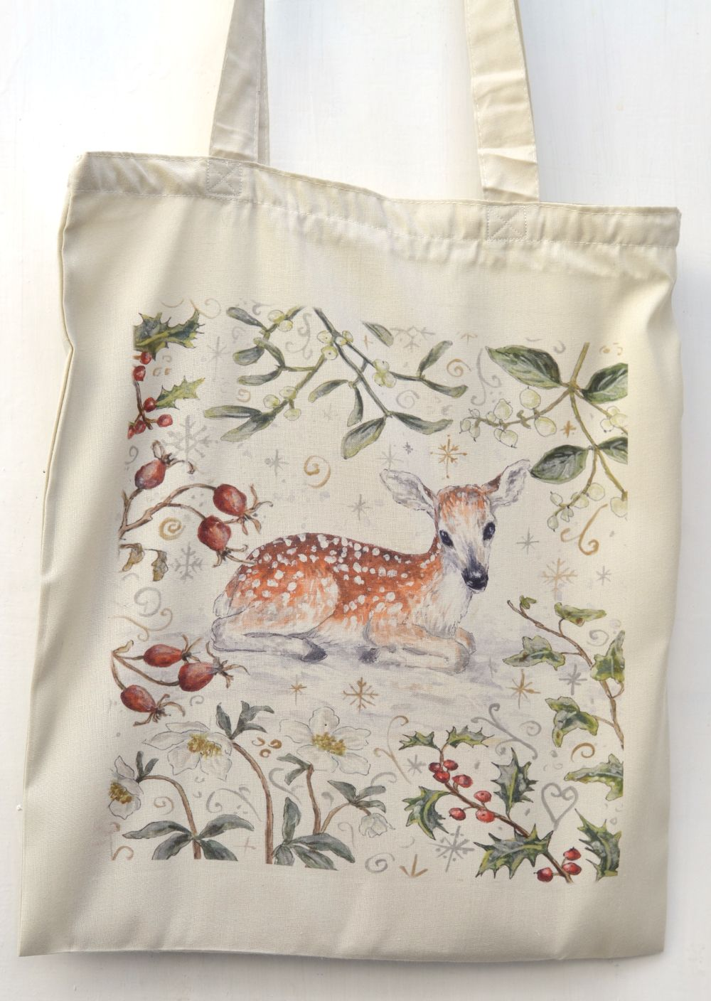 Bag - Winter Berries - Fawn