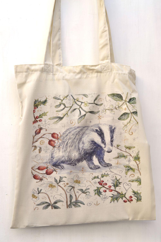 Bag - Winter Berries - Badger