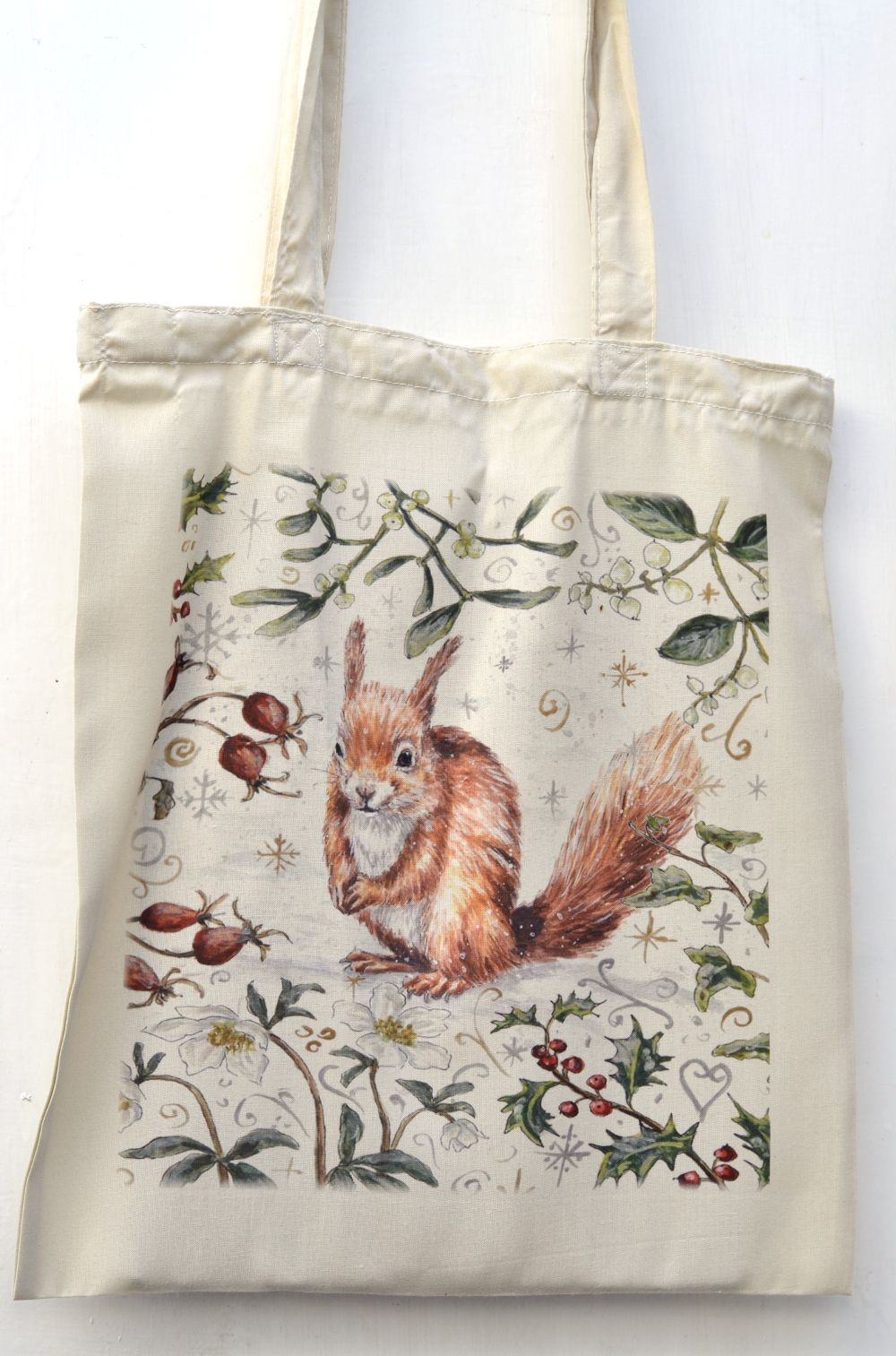 Bag - Winter Berries - Red Squirrel
