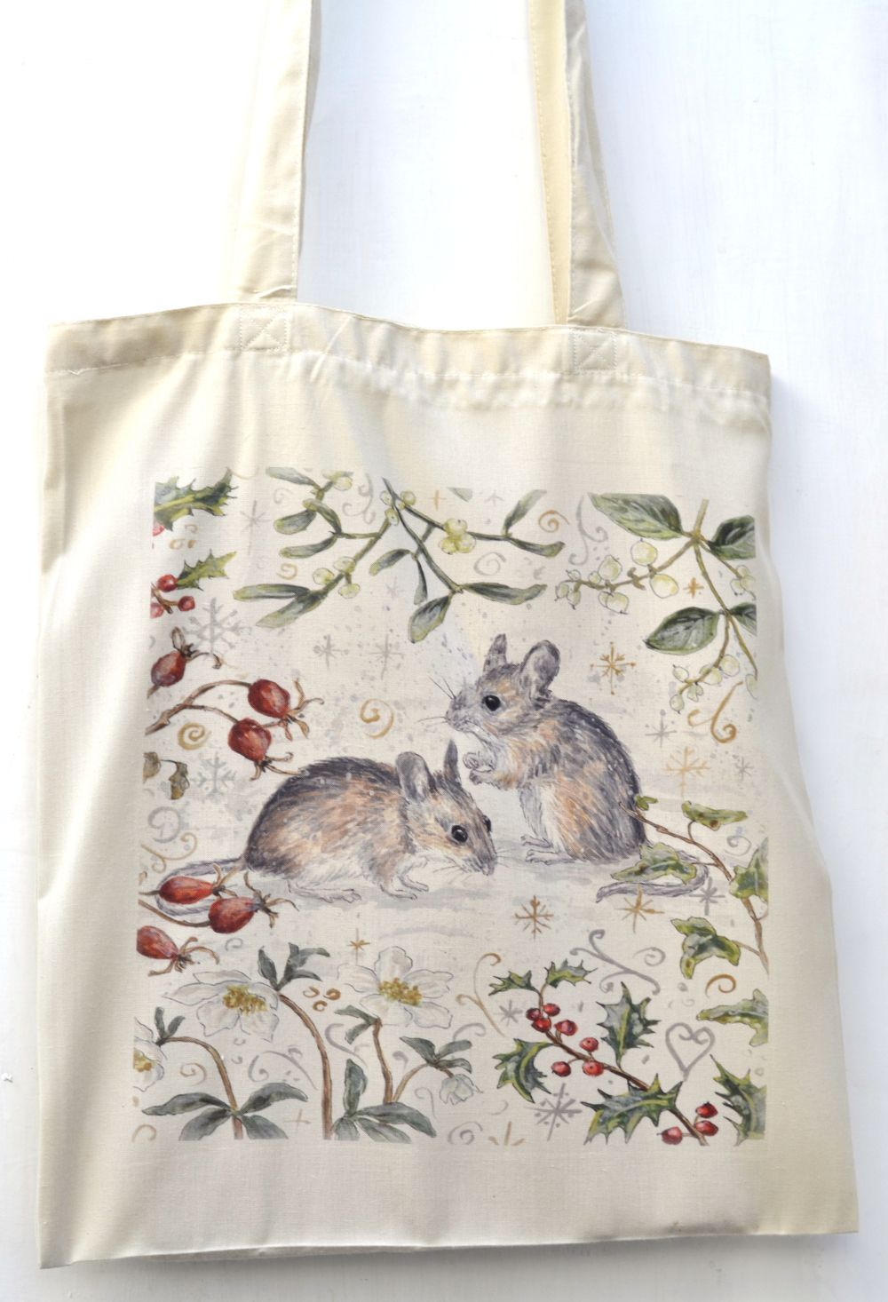 Bag - Winter Berries - Mice